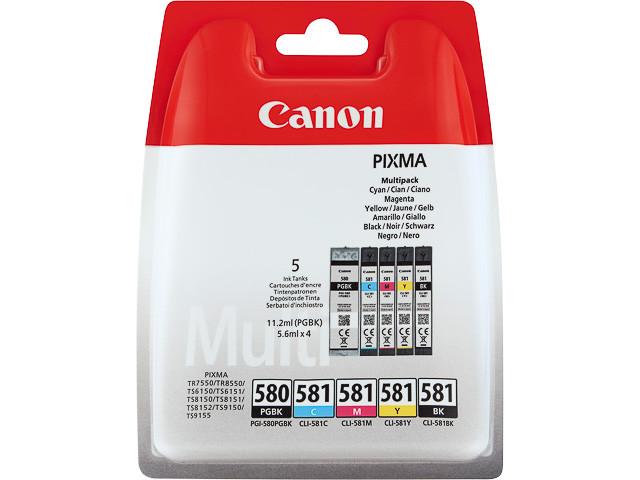 Canon PGI-580-CLI-581 Multipack BK-C-M-Y