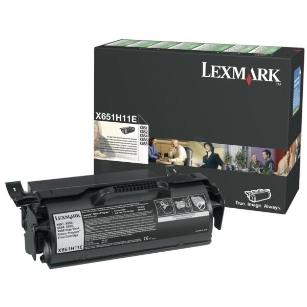 TONERCARTRIDGE LEXMARK X651H11E PREBATE 25K ZWART