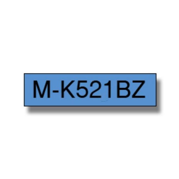 Brother Labelling Tape 9mm, Black-Blue, Blister (M-K521B)