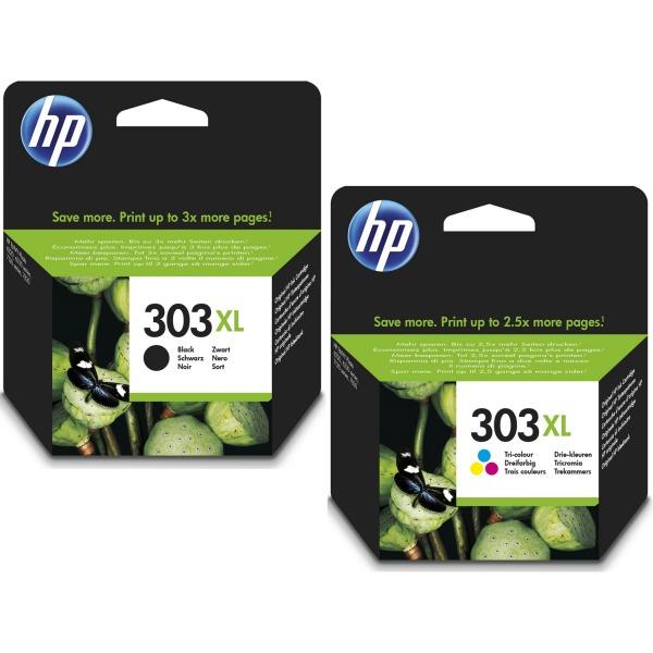 HP 303XL 10ml 12ml Zwart, Cyaan, Magenta, Geel 600pagina's 415pagina's inktcartridge