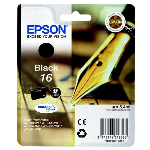 Epson T1621 5.4ml 175pagina's Zwart