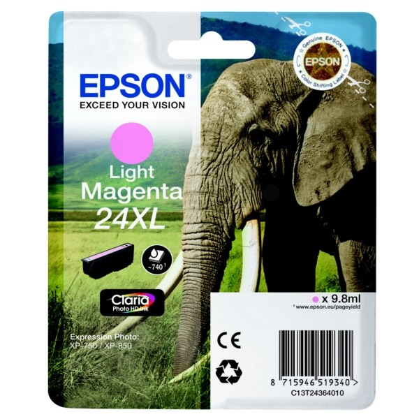 24XL SERIES ELEPHANT MAGENTA LIGHT INK CARTRIDGE