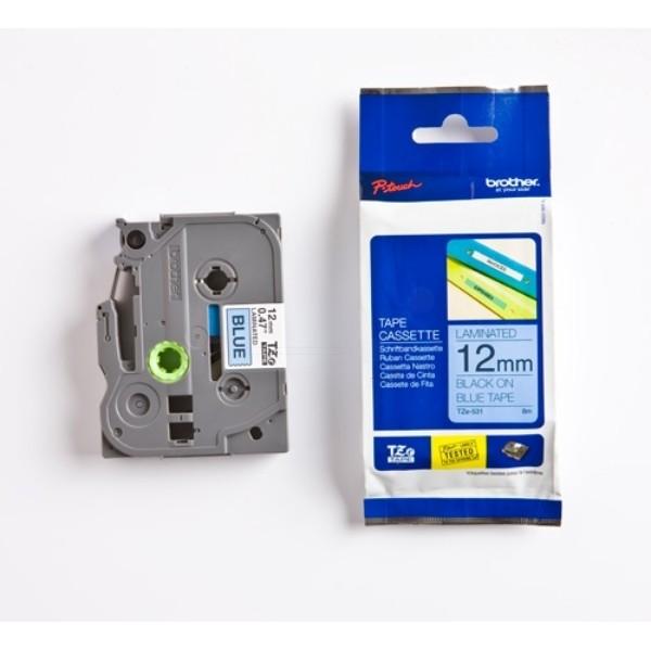Labeltape Brother P-touch TZE531 12mm zwart op blauw