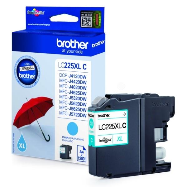 Inkcartridge Brother LC-225XLC blauw HC