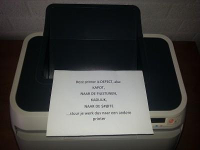Defecte printer