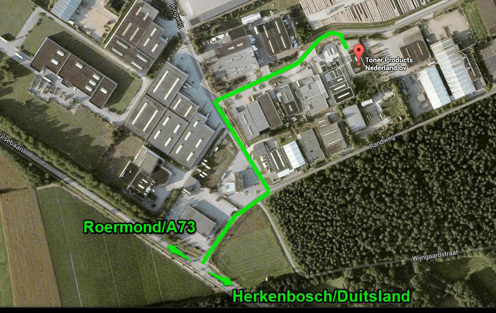 Routebeschrijving naar Toner Products Nederland